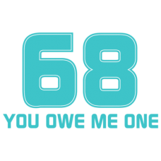 68 you owe me one DG0001SXAL