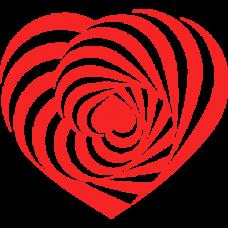 heart spiral infinity 3d optical DG0016OPTL