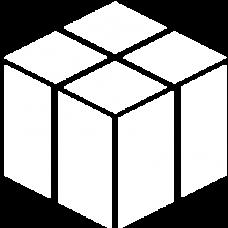 cube 3d optical illusion DG0040OPTL