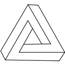 triangles optical illusion DG0056OPTL