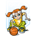 Cartoon Basketball DG0035BBAL
