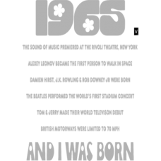 1965 and I was born DG0016BDAY